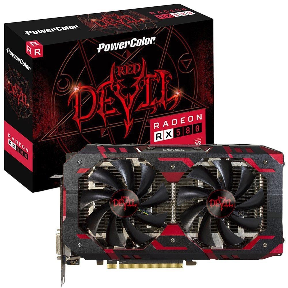 PLACA DE VIDEO POWERCOLOR RADEON RX 580 8GB GDDR5 RED DEVIL 256-BIT, AXRX 580 8GBD5-3DH/OC