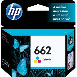 Cartucho de Tinta HP 662 Tricolor CZ104AB